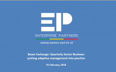 Quarterly Sector Reviews: putting adaptive management into practice