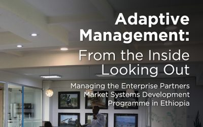 Adaptive Management: From the Inside Looking Out