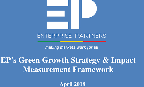 EP's Green Growth Strategy & Impact Measurement Framework